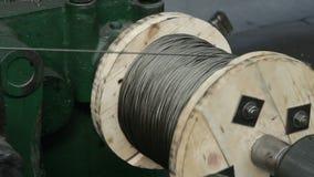 Productie van kabels Bundel van kabels stock videobeelden