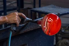 Productie van kunstglas stock foto