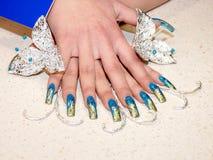 Productie van manicure Stock Foto's