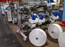 Productie van plastic zak, Extruder royalty-vrije stock afbeelding
