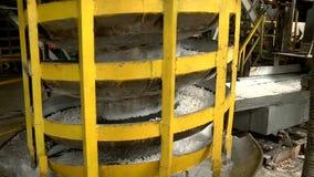 Productie van uitgedreven rubber stock footage