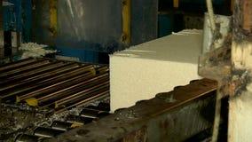 Productie van uitgedreven rubber stock videobeelden