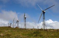 Productie van windenergie in Costa Rica Stock Afbeelding