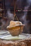 Productie van zout Royalty-vrije Stock Afbeelding