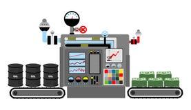 Productiegeld Technologisch proces van productiecash flow vector illustratie
