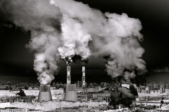 Productieinstallatie Industrieel landschap Stock Afbeeldingen
