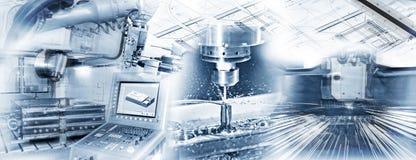 Productiestappen in de industrie stock foto