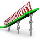 Productieve Mensen die van het productiviteits de Efficiënte Groepswerk Togeth werken Stock Afbeelding