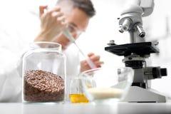 Production alimentaire, contrôle de qualité de laboratoire image stock