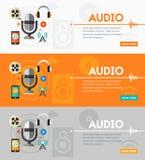 Production audio et concept podcast Image stock