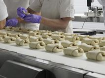 Bread making process. Royalty Free Stock Photo