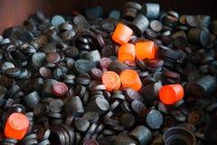 Production of bearings royalty free stock photo