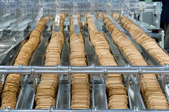 Production of biscuits Royalty Free Stock Photo