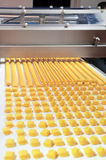 Production of biscuits Stock Photography