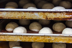 Production of bread,kitchen of a chinese restaurant Royalty Free Stock Photos