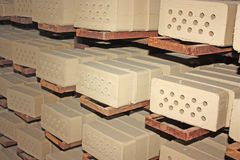 Production brick plant Royalty Free Stock Photos