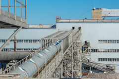 The production capacity of sugar factories. Industrial building Royalty Free Stock Photos