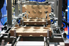 Production of cardboard packaging Royalty Free Stock Images