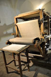 Production of cotton paper handmade Royalty Free Stock Photography