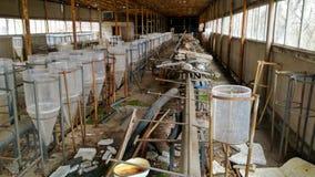 Production détruite dans Pripyat Photo stock