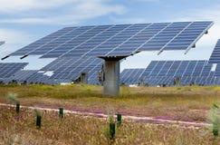 Production d'électricité solaire Photo stock