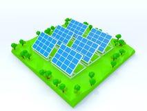 Production d'électricité solaire Photo libre de droits