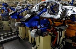 Production d'automobile Photographie stock
