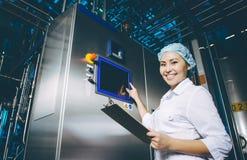 Production d'usine de lait image libre de droits