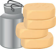 Production dairy cheese Royalty Free Stock Images
