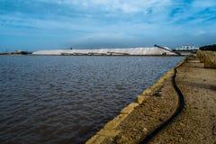 production de Mer-sel en Sicile Image libre de droits