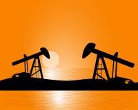 Production de pétrole à partir sous la terre Photographie stock