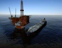 Production de pétrole Photo libre de droits