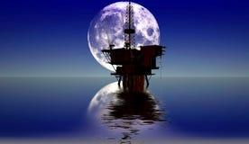 Production de pétrole illustration stock