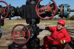 Production de pétrole. Images stock