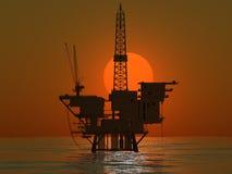Production de pétrole Photos stock