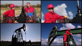 Production de pétrole brut banque de vidéos