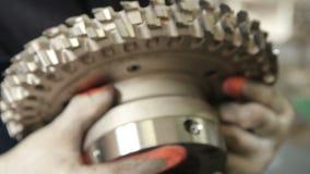Production de parquet Usine industrielle banque de vidéos
