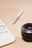 Production de poteau de photographie avec la tablette graphique Photographie stock libre de droits