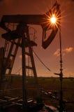 Production de Russia.Oil sur le gisement de pétrole Image libre de droits