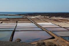 Production de sel Photographie stock libre de droits