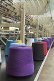 Production de textile - tissant Image stock