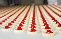 Production des biscuits Photos stock