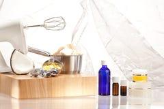 Production des cosmétiques d'arome Photographie stock