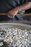 Production des fibres en soie Images libres de droits