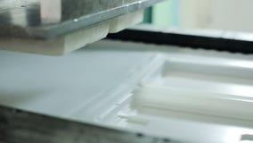 Production des récipients jetables des matériaux sûrs pour le stockage de nourriture banque de vidéos