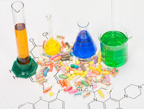 Production of drugs Stock Photos