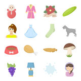 Production, ecology, trekking and other web icon in cartoon style. leisure, business, shopping icons in set collection. Production, ecology, trekking and other Royalty Free Stock Photography