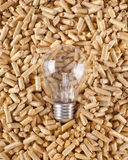 Production of electricity with wood pellets Royalty Free Stock Photography