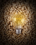 Production of electricity with wood pellets Stock Images