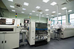 Production of electronic components  at high-tech Royalty Free Stock Photography